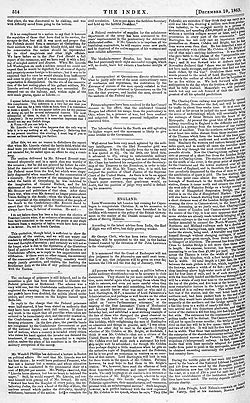 The Index – 10 December 1863